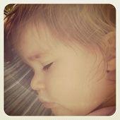 Sweet baby sleeping - instagram effect