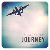 Inspirational Typographic Quote - Focus on the Journey