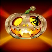 Halloween Pumpkin element UFO