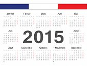 Vecto French Rcircle Calendar 2015