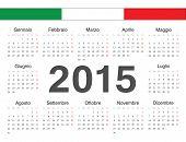 Vector Italian Circle Calendar 2015