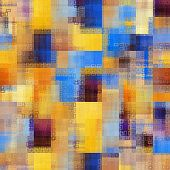 art abstract colorful geometric pattern; background in gold. orange, purple and blue colors