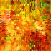 art abstract colorful geometric pattern; background in gold, green and red colors