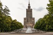 Palace of Culture & Science in Warsaw City