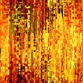 art abstract pixel geometric seamless pattern; background in gold, green and red colors