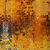 art abstract colorful geometric pattern background in gold, orange, brown, grey and red colors
