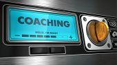Coaching on Display of Vending Machine.