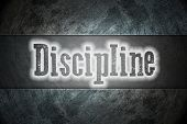 stock photo of discipline  - Discipline Concept text on background idea sign - JPG