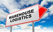 Warehouse Logistics on Red Road Sign.