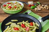Fresh Italien Pasta With Basil