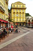 Cours Saleya Buildings And Restaurants, Nice
