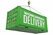 World Wide Delivery - Green Container.