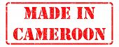 Made in Cameroon on Red Stamp.