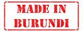 Made in Burundi on Red Stamp.