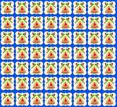 Golden Christmas Bell Wallpaper  blue background