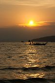 Sun Set At Andaman Sea In Southern Thailand
