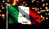 Italy National Flag Torn Burned War Freedom Night 3D