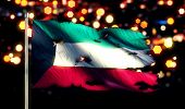 picture of kuwait  - Kuwait National Flag Torn Burned War Freedom Night 3D - JPG
