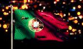 Portugal National Flag Torn Burned War Freedom Night 3D