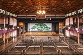 UCHIKO, JAPAN - DECEMBER 4, 2012: Uchiko-za Kabuki Theater. Dating from 1916, the theater is famous