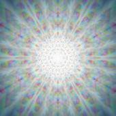 Mystic shiny dandelion mandala