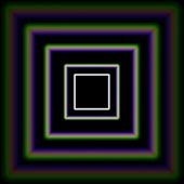 Shiny concentric squares corridor