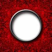 Red Abstract Texture With Round Center
