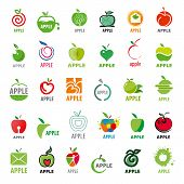 Vector Great Collection Icons Apples