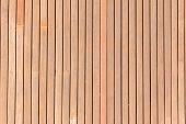 stock photo of slating  - A wood slate deck section for outside decor uses - JPG