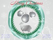 Christmas Balls With Sheep In The Centre