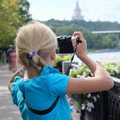 the image girl with camera
