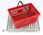 Shopping Basket With Bar Code