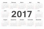 Vecto Rcircle Calendar 2017
