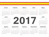 Vector Spanish Circle Calendar 2017