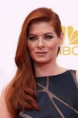 LOS ANGELES - AUG 25:  Debra Messing at the 2014 Primetime Emmy Awards at Nokia at LA Live on August 25, 2014 in Los Angeles, CA