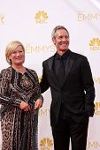 LOS ANGELES - AUG 25:  Jayne Atkinson, Michel Gill at the 2014 Primetime Emmy Awards - Arrivals at Nokia at LA Live on August 25, 2014 in Los Angeles, CA