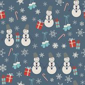 Seamless Pattern With Christmas Accessories.eps