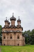 foto of trinity  - Church of the Holy Trinity was build in 1557 and shows the influence of Moscow architecture Veliky Novgorod Russia - JPG