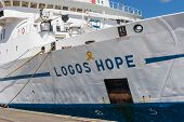 KEELUNG, TAIWAN - August 26th : Logos Hope docked at the Keelung, Keelung, Taiwan on August 26th , 2