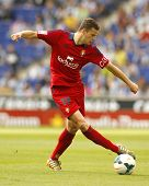BARCELONA - MAY, 11: Oriol Riera of Osasuna in action during a Spanish league match against RCD Espa