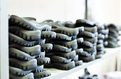 Rubber soles for footwear manufacturing