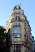 PARIS, FRANCE - NOVEMBER 04, 2012: Facade of a traditional apartment building in Paris, France on No