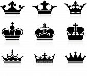 picture of queen crown  - Original vector illustration - JPG