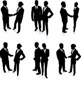 pic of person silhouette  - Business Team Silhouette Collection Original Vector Illustration People Silhouette Sets - JPG