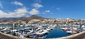 TENERIFE, SPAIN - JULY 15: Panoramic view of the port Colon on july 15, 2014 in Tenerife, Spain. Por