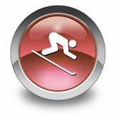 Icon, Button, Pictogram Downhill Skiing