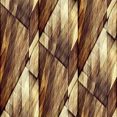 art abstract geometric diagonal seamless pattern; background in brown and white colors