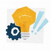 Idea Concept Vector Illustration, Lamp Bulb and Gear