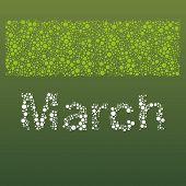 Abstract Dotted Text - Months: March