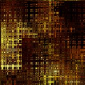 art abstract colorful geometric seamless pattern; background in gold and brown colors